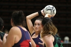 Central goal attack Kirby Heath attempts another shot during her team's loss to Otane last night. PHOTO/Duncan Brown