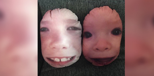 """My nephews' faces on pillows for a Mother's Day gift was a great idea in theory,"" says sir_dancelot on Reddit."