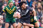 Storm forward Tohu Harris in action for the Kiwis. Photo / Photosport.