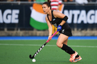 Ella Gunson in action for the Black Sticks during the series against India. Photo / photosport.nz