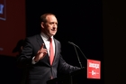 Andrew Little tells the Labour Party Congress yesterday he's ready to take the fight to National. Photo / Alison Bell