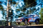 Hayden Paddon and Seb Marshall make a flying start in Portugal. Photo / McKlein