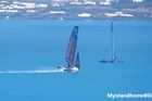 The heart-stopping moment Emirates Team New Zealand plants their cat's nose underwater