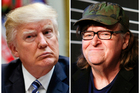 Michael Moore is taking on Donald Trump in his new movie. Photo/AP