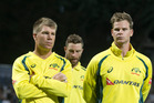 Australian cricketers David Warner and Steve Smith. Photo / Alan Gibson