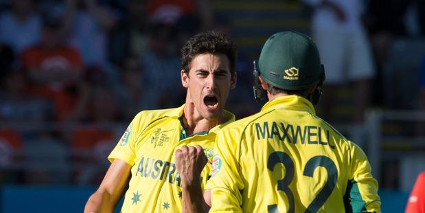 Australian fast bowler Mitchell Starc. Photo / Brett Phibbs