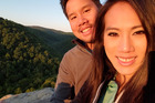 David Le, 39 and Jenny Pham, 30,  had their proposal photographed by accident. Photo / Caters