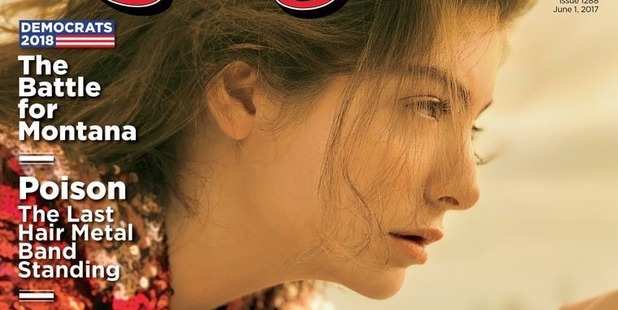 Loading Lorde on the cover of the latest Rolling Stone magazine, in which she reveals her second album started out as a story about aliens.