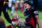 Scott Barrett of the Crusaders gets medical attenion aginst the Hurricanes. Photo/Photosport
