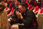 Israel Dagg enjoys a bowl of Kava at the Crusaders welcoming at Holiday Inn Suva. Photo / Fiji Village / Facebook