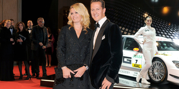 Corinna and Michael Schumacher attend the GQ Men Of The Year 2010 award ceremony. Photo/Getty Images