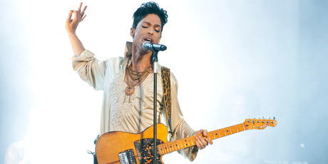 Prince headlines the main stage on the last day of Hop Farm Festival in 2011. Photo / Getty