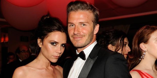 Victoria Beckham and David Beckham. Photo / Getty