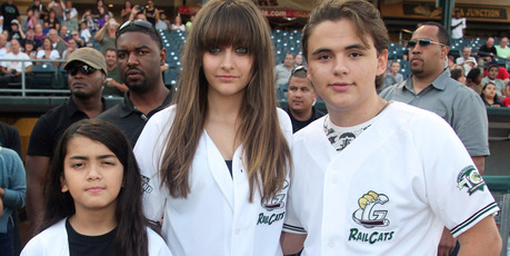 Prince Michael Jackson II, Paris and Prince attend a baseball game in 2012. Photo / Getty Images