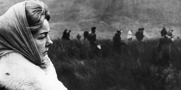 Ann Downey watching the police search Saddleworth Moors for the body of her daughter Lesley. Photo / Getty Images