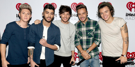 (L-R) Musicians Niall Horan, Zayn Malik, Louis Tomlinson, Liam Payne, and Harry Styles of the band One Direction. Photo / Getty