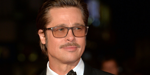 Brad Pitt attends the closing night European Premiere gala red carpet arrivals for Fury. Photo / Getty