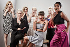Actresses Skyler Samuels, Jamie Lee Curtis, Billie Lourd, Emma Roberts, Lea Michele, Abigail Breslin, and Keke Palmer of Scream Queens. Photo / Getty