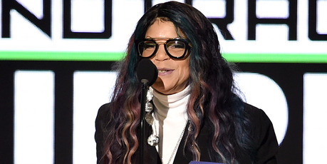 Tyka Nelson accepts Top Soundtrack for 'Purple Rain' on behalf of her brother, the late musician Prince, onstage during the 2016 American Music Awards. Photo / Getty