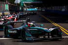 Mitch Evans in front of the pack during the Buenos Aires ePrix. Photo / Getty Images