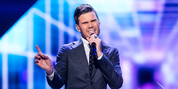 Robin Bengtsson performs the song I Can't Go On. Photo / Getty