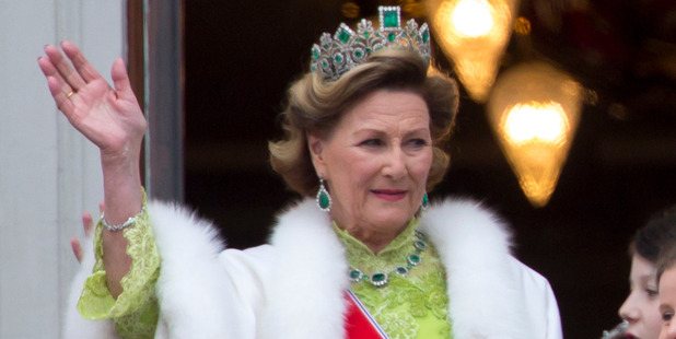Queen Sonja attends an official Gala dinner at the Royal Palace. Photo / Getty