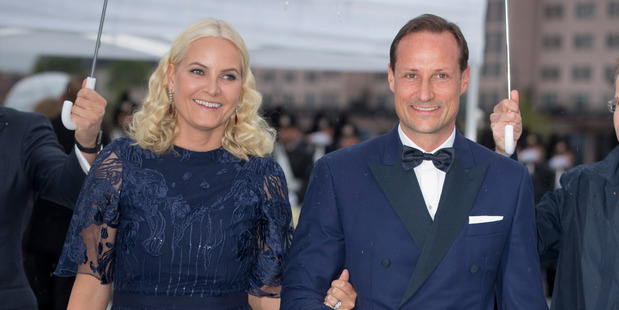 Crown Princess Mette-Marit and Crown Prince Haakon of Norway, attend a Gala Banquet. Photo / Getty