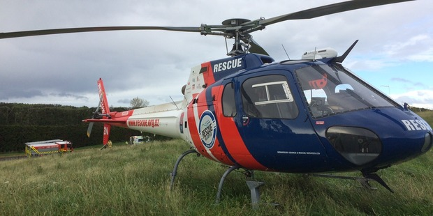 "The 21-year-old was rushed to Rotorua Hospital due to the ""time-critical nature"" of his injuries. Photo / BayTrust Rescue Helicopter"