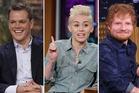 Matt Damon, Miley Cyrus and Ed Sheeran. Photos / Getty