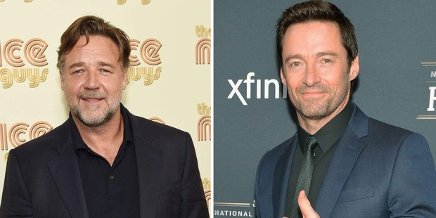 Russell Crowe and Hugh Jackman. Photos / Getty