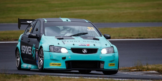 Callum Quin and his Holden Commodore he will race at Taupo. Photo / Supplied