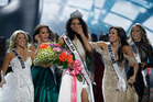 Miss District of Columbia USA Kara McCullough reacts after she was crowned the new Miss USA. Photo / AP