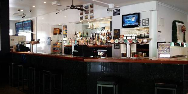 The bar at the Railway Hotel in Greymouth.