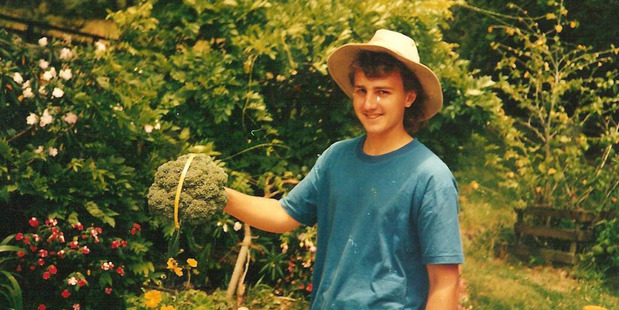 Keen gardener, Quentin Godwin in 1991, a year before he went missing. Photo / Supplied