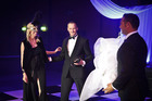 Helen Fletcher, Paul Salmon and Rob Lemoto enjoy A Night in Venice Charity Ball. Photo/Andrew Warner