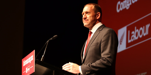 Loading Labour Party leader Andrew Little speaks to party members at Labour's annual congress. Photo / Alison Bell