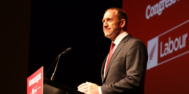 Loading Labour Party leader Andrew Little speaking to party members at Labour's annual congress over the weekend. Photo / Supplied
