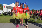 Mother and daughters team Natasha Ashford-White, Pamela Brake and Lauren Ashford-White say doing the fun run has become a family tradition. Photo/George Novak
