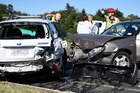A three-way car crash on State Highway 2, just past the Wairoa River bridge, has raised concerns about increasing traffic flows. Photo/George Novak
