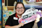 Gate Pa New World lotto operator Kathleen Finn said no one has come into collect the Audi A1 yet. Photo/George Novak