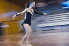 Ella Rowell, 14, performing for the judges at the Northern Areas Artistic Roller Skating Competitions. Photo/Stephen Parker