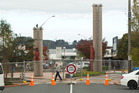 Fencing and road closure signs are up around the Hinemoa and Tutanekai St intersection.  Photo/Stephen Parker