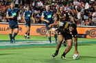 Chiefs' centre Anton Lienert-Brown scores a try during the Super Rugby rugby match - Chiefs v Blues. Photo / Photosport.co.nz