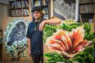 Dan Tippett calls the art he helped create indigenous hip-hop graffiti. Photo / Greg Bowker