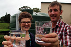 Richard and Anna Campbell raise their glasses to their new business venture Safe H2O. Photo/ Stuart Munro
