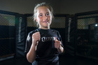 Maia Degenkolbe, 8, is learning self-confidence and discipline in her Brazilian jiu-jitsu and wrestling classes. Photo / Nick Reed