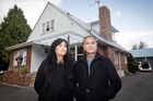 Rotorua business couple Lara Northcroft and Wetini Mitai visit one of Tauranga's emergency housing homes to explore the possibility of replicating it in their home town. Photo / Andrew Warner
