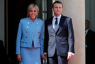 Many are saying Emmanuel Macron's wife Brigitte is France's first real First Lady. Photo / AP