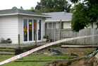 Damage done to houses by the April flooding in Edgecumbe. PHOTO/Alan Gibson