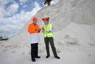 Robin Piggott (left) and Shane Dufaur, CEO of Dominion Salt. Photo/File